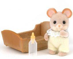 SYLVANIAN-FAMILIES-bebé ratón blanco