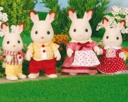 SYLVANIAN-FAMILIES-familia conejos chocolate