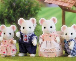 SYLVANIAN-FAMILIES-familia ratones blancos